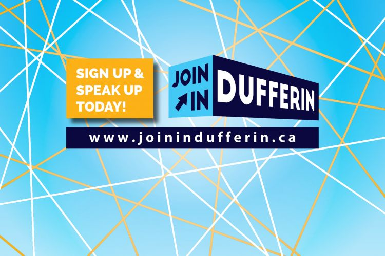 Join in Dufferin Logo